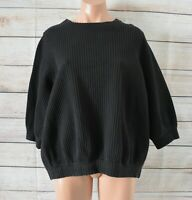 COS Sweater Jumper Size Small Medium Black Polka Dot Embossed Cotton