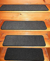 13 Step 9'' x 30''+1 Landing 30'' x 30'' In/Outdoor Stair Treads Non-Slip Vinyl.