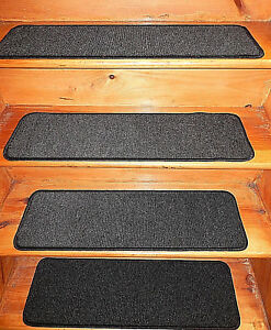 13 Step 9'' x 30''+1 Landing 30'' x 30'' In/Outdoor Stair Treads Non-Slip Vinyl.