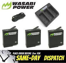 Wasabi Power GoPro Hero 7 Black Battery Kit 2 X 1220mah & USB Charger Set Go Pro
