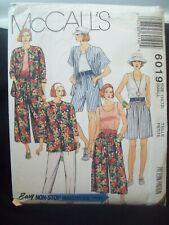 Vintage McCalls Pattern 6019 Easy Wardrobe Split Skirt Sizes 10-12 UC/FF NOS