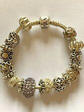 Genuine Pandora Silver Charm Bracelet With mixed charms 17Cm  SMALL  #B/7