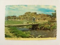 Vintage 1973 Taos Pueblo Building, New Mexico NM Postcard