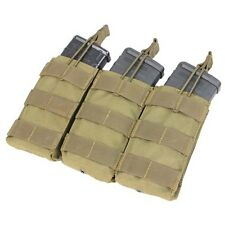 Condor MA27 TAN MOLLE Triple Open Top M4 M16 AR15 Rifle Magazine Mag Pouch