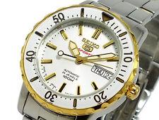 Seiko 5 Reloj automático de tamaño mediano Japón 24 Joya dos tonos SRP194J1 Reino Unido Vendedor