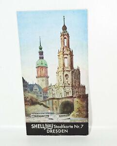 Coquille Stadtkarte Nr.7 Dresde Um 1930 Plan de Ville ! (H5