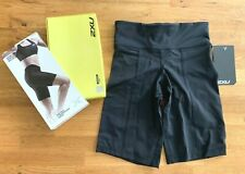 2XU Women's Wide Waist Band Mid-Rise Compression Short in Black Size Small - NEW
