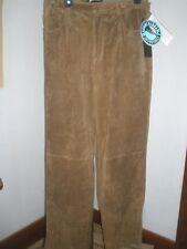 NWT Women's Brandon Thomas Brown Washable Suede 5-Pocket Jeans Pants  Sz 12