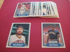 1982 Fleer Cleveland Indians Team Set 25 Cards