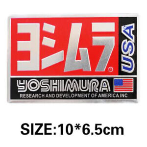 Heat resistant Motorcycle Exhaust Pipe Sticker Yoshimura USA Emblem  Cover 100mm