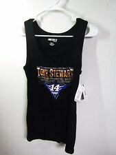 Womens Nascar #14 Tony Stewart PLUS  XXL* Black Ribbed Tank Top Shirt Razor Back