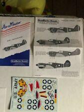 1/48 P-40B/C/D/E/F/K/N's Warhawk decal lot