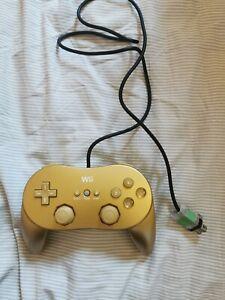 Nintendo Wii Classic Pro Controller Gold VGC