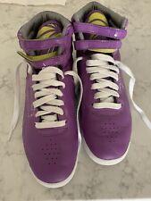 Vintage Womens Reebok Classic High Top Leather Sneakers  Violet Purple Sz 8