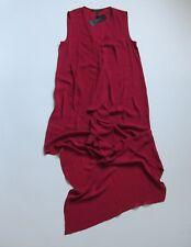 NWT BCBGMaxAzria Tara in Jester Red Sheer Chiffon Ruffle High Low Dress S $178