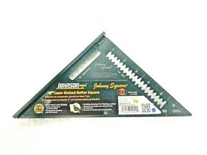 """JOHNSON 7""""  JOHNNY SQUARE PROFESSIONAL ALUMINUM RAFTER ROOFING ANGLE EZ READ"""