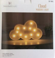 "Light-Up Cloud Marquee Light 7.3"" X 11.8"" Battery-operated Home Decor Wall"