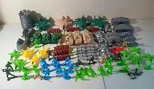 Army Men Toy Soldier Lot, 80 piece, MEN-TANKS-PLANES & MORE, FREE GIFT