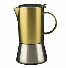 La Cafetiere 4 Cup BRUSHED Gold STOVE TOP 200ml ESPRESSO Coffee Maker