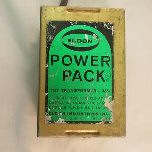 ELDON 6 VOLT DC POWER PACK TOY TRANSFORMER #3851 ~ TESTED @ 5.7 VOLTS DC ~ GOOD