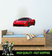 PRINTED WALL ART WALL DECOR FERRARI CAR GRAPHIC STICKER DECAL