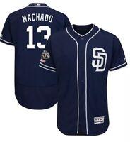 Manny Machado San Diego Padres Majestic Flex Base Jersey Mens size M-2XL