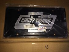 Chevy Trucks bow tie front license plate GM