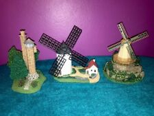 """The Danbury Mint """"Windmills Of the World"""" Lot Of 3 *Spain* *Germany* *Wisconsin*"""