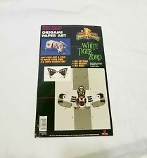 Vintage 1994 Power Rangers White Tiger Zord Origami Paper Art NEW AND UNUSED