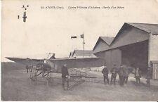 CPA 18 AVORD Centre Militaire d'Aviation,Sortie d'un Avion animés 1916