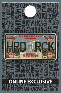 Hard Rock Cafe BERLIN 2021 Checkpoint Charlie LICENSE PLATE Series PIN LE 300!