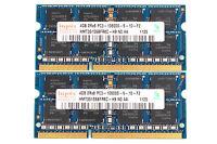 Hynix RAM 2X 4G DDR3 PC3 10600S 1333mhz Laptop Notebook Memory Chips Kit Sodimm