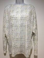 Worthington Pullover Boat Neck Top Womens Large Dolman Sleeves Multi Color  NEW