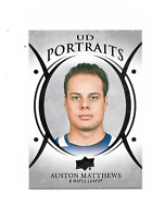 2018-19 Upper Deck Portraits #P34 Auston Matthews Toronto Maple Leafs