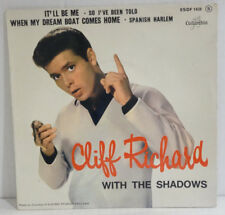 """CLIFF RICHARD with The SHADOWS - It'll be Me > EP Single 7"""" , 4 Songs, France"""