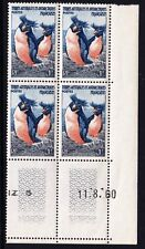 French Antarctic Territory 1956 Penguins - MNH block of 4 - (121)