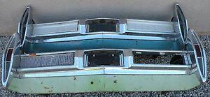 X CADILLAC NEW TRIPLE PLATED CHROME REAR BACK BUMPER 1967 67 OEM