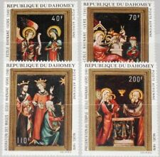 DAHOMEY 1970 439-42 C132-35 Christmas Weihnachten Religion Paintings Gemälde MNH