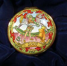 Halcyon Days Winnie The Pooh Enamel Enamel Box Disney 2007 Mint