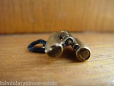 DOLL HOUSE 12th SCALE 'ANTIQUE BRONZE' STYLE METAL PAIR OF MOVING BINOCULARS !!!