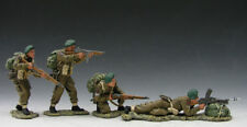 King and Country DD053  WWII D-Day Commando Attack Group - Retired-   MIB