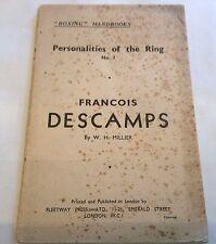 Francois Descamps Plus ** Signed Author Letter **  1934