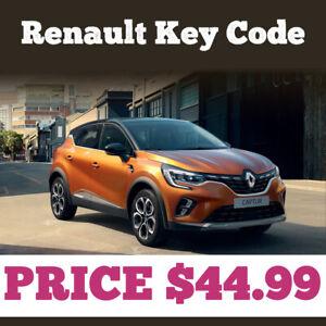 Renault  Immobiliser Key Code