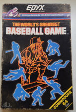 THE WORLDS GREATEST BASEBALL GAME  Commodore 64 / 128 Disk & MANUAL &  BOX