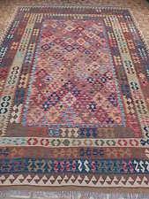 New Flat Weave Handmade Rug 8 X 11 Native American Tribe Inspired Kilim Area Rug