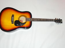 MARY CHAPIN CARPENTER SIGNED FULL-SIZE SUNBURST ACOUSTIC GUITAR COUNTRY JSA COA