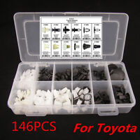 For TOYOTA  Fender Door Hood Bumper Trim Clip Body Retainer Assortment 146Pcs