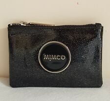 FREE POST MIMCO LOVELY BLACK SHIMMER SMALL POUCH WALLET BNWT DUST BAG