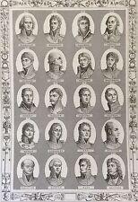 Maréchaux généraux Révolution Empire Napoléon Bonaparte 1850 Maréchal Général