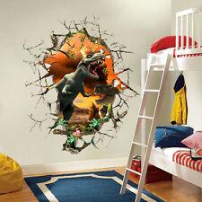 Wandtattoo Wandbild Wand Deko Wandaufklebe Kinderzimmer Dinosaurier Sticker  3D 4